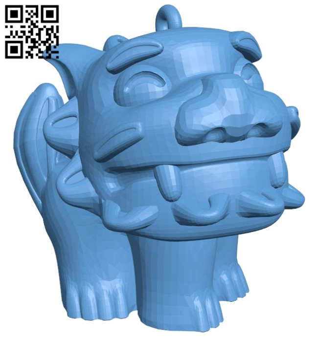 Lion pendant B008646 file stl free download 3D Model for CNC and 3d printer