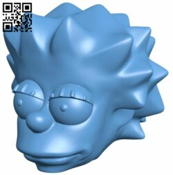 Lisa Simpson Monster High Hack – head B008851 file obj free download 3D Model for CNC and 3d printer