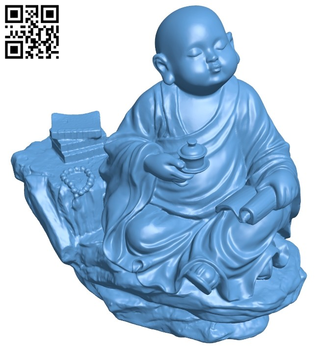 Little child B008705 file obj free download 3D Model for CNC and 3d printer