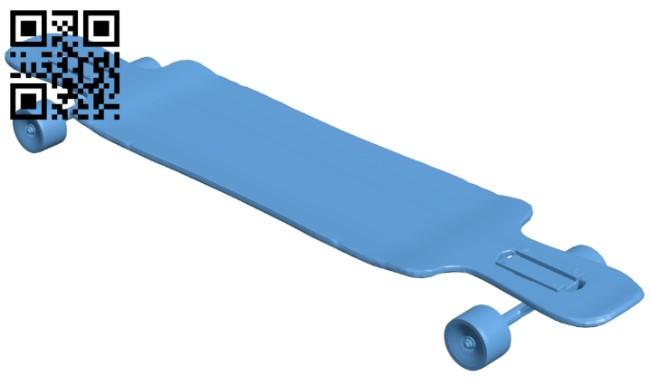Longboard B008917 file obj free download 3D Model for CNC and 3d printer