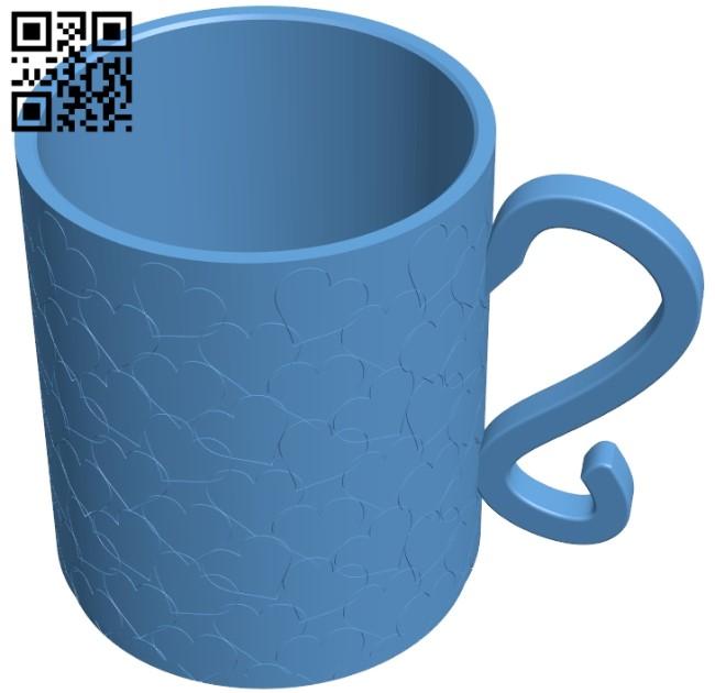 Love mug B008895 file obj free download 3D Model for CNC and 3d printer