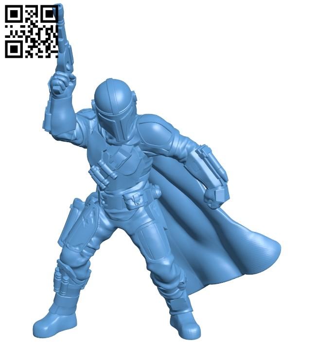 Man docape B008884 file obj free download 3D Model for CNC and 3d printer