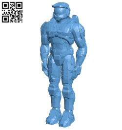 Master chief – armor B008770 file obj free download 3D Model for CNC and 3d printer