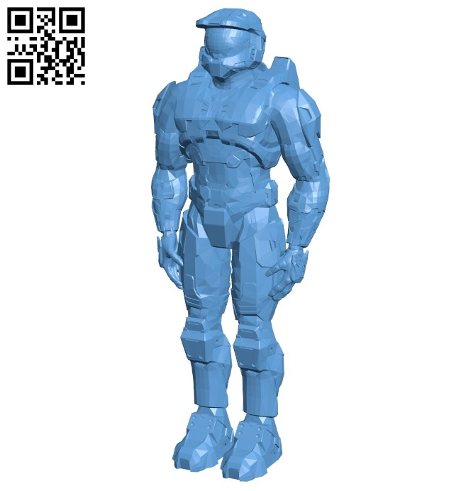 Master chief - armor B008770 file obj free download 3D Model for CNC and 3d printer