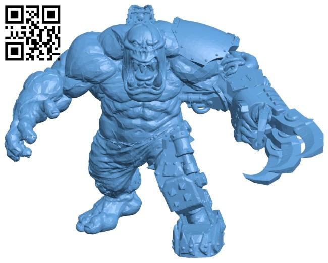 Mega Orc B008692 file stl free download 3D Model for CNC and 3d printer