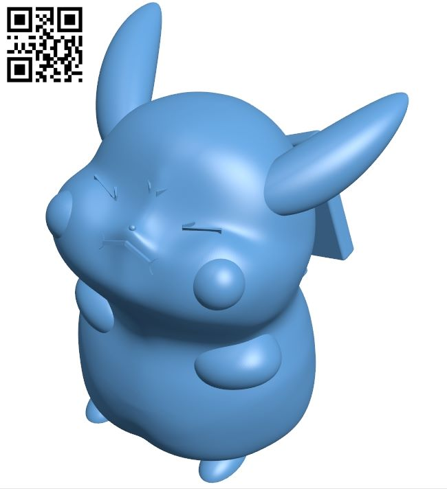 Merged pikachu - pokemon B008856 file obj free download 3D Model for CNC and 3d printer