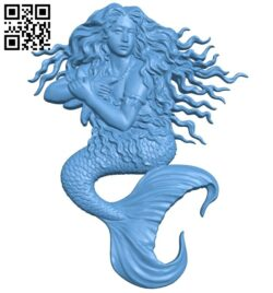 Mermaid A005768 download free stl files 3d model for CNC wood carving