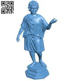 Met bronze statue of a camillus B008843 file obj free download 3D Model for CNC and 3d printer