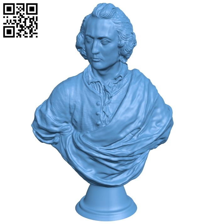 Met bust of an englishman - man B008817 file obj free download 3D Model for CNC and 3d printer