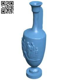 Met funerary lekythos B008859 file obj free download 3D Model for CNC and 3d printer