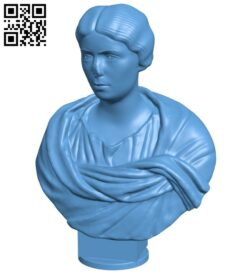 Met marble portrait bust of a woman B008846 file obj free download 3D Model for CNC and 3d printer
