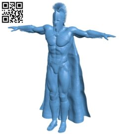 Mighty warrior – man B008697 file stl free download 3D Model for CNC and 3d printer