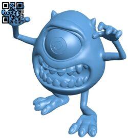 Mike wazowski B008871 file obj free download 3D Model for CNC and 3d printer