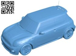 Mini car cooper new B008881 file obj free download 3D Model for CNC and 3d printer