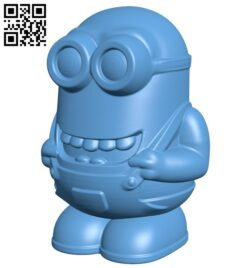 Minion simple B008706 file obj free download 3D Model for CNC and 3d printer