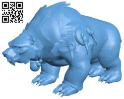 Misha Bear B008637 file stl free download 3D Model for CNC and 3d printer