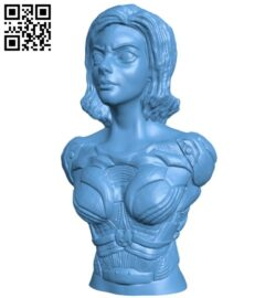 Miss Alita Bust B008636 file stl free download 3D Model for CNC and 3d printer