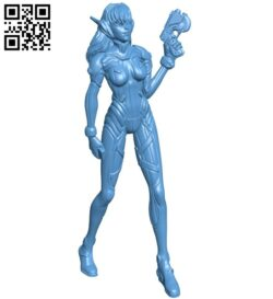 Miss D.va – game B008728 file obj free download 3D Model for CNC and 3d printer