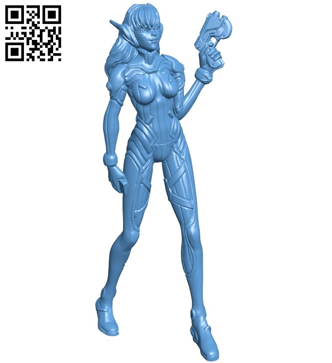 Miss D.va - game B008728 file obj free download 3D Model for CNC and 3d printer