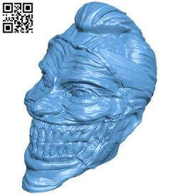 Miss Joker Figurine clip head B008860 file obj free download 3D Model for CNC and 3d printer