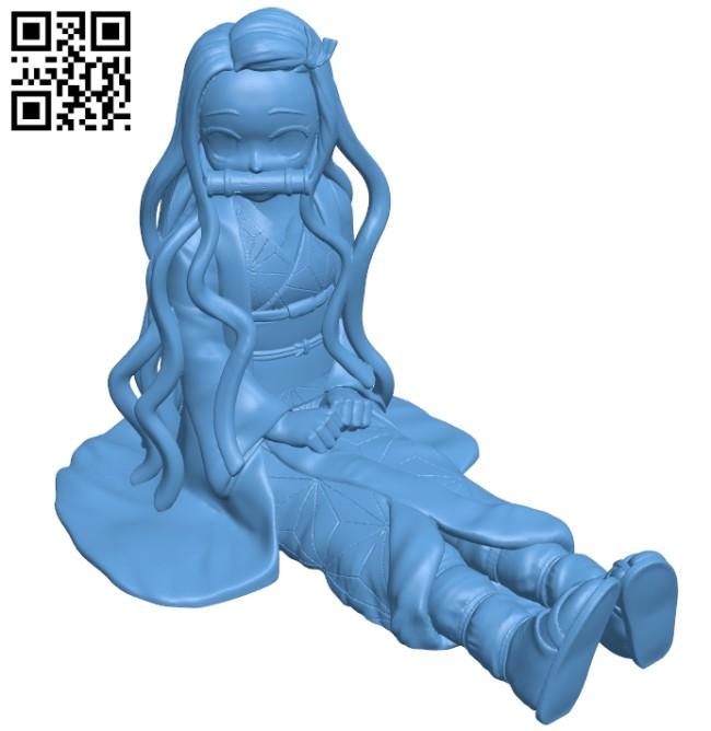 Miss Kamado Nezuko - Kimetsu no Yaiba B008810 file obj free download 3D Model for CNC and 3d printer