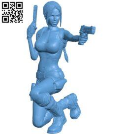 Miss Lara croft shoots B008896 file obj free download 3D Model for CNC and 3d printer