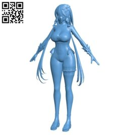 Miss Lila – SwimSuit B008708 file obj free download 3D Model for CNC and 3d printer