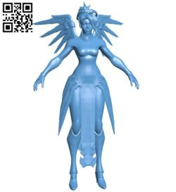 Miss Mercy B008694 file stl free download 3D Model for CNC and 3d printer