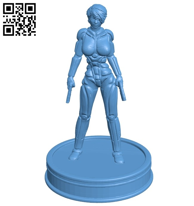 Miss Sci FI B008677 file stl free download 3D Model for CNC and 3d printer