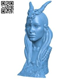 Miss Shaman bust B008689 file stl free download 3D Model for CNC and 3d printer