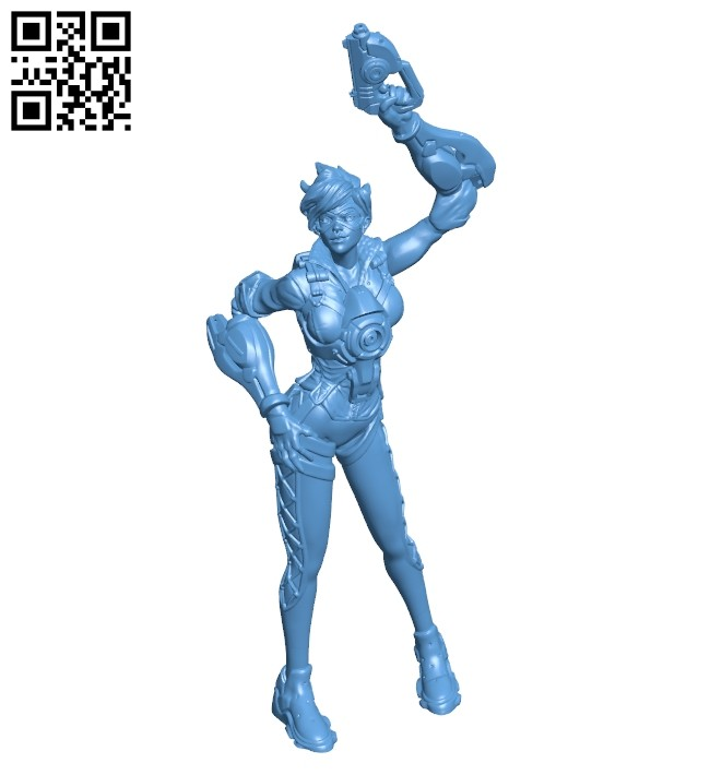 Miss Tracer - game B008729 file obj free download 3D Model for CNC and 3d printer