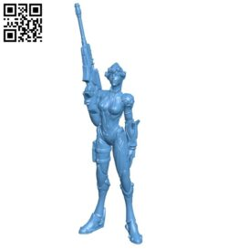 Miss Widowmaker – game B008730 file obj free download 3D Model for CNC and 3d printer