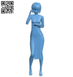 Miss Yuki B008680 file stl free download 3D Model for CNC and 3d printer