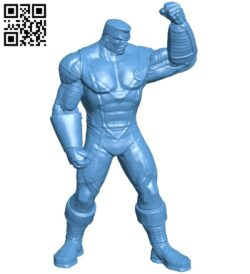 Mr Colossus – superhero B008789 file obj free download 3D Model for CNC and 3d printer