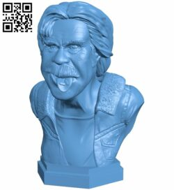 Mr Frank Gallagher bust B008852 file obj free download 3D Model for CNC and 3d printer