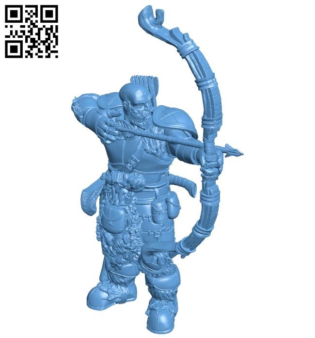 Mr Goliath ranger B008913 file obj free download 3D Model for CNC and 3d printer