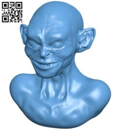 Mr Gollum bust B008915 file obj free download 3D Model for CNC and 3d printer
