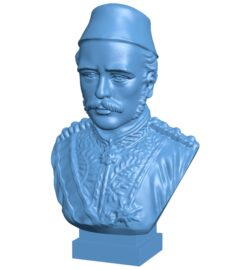 Mr Gordon bust of khartoum  B008849 file obj free download 3D Model for CNC and 3d printer