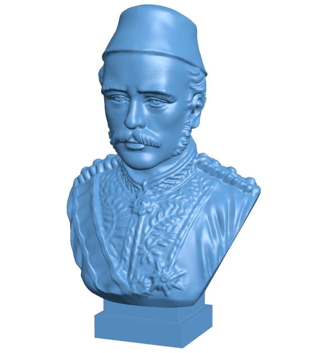 Mr Gordon bust of khartoum B008849 file obj free download 3D Model for CNC and 3d printer