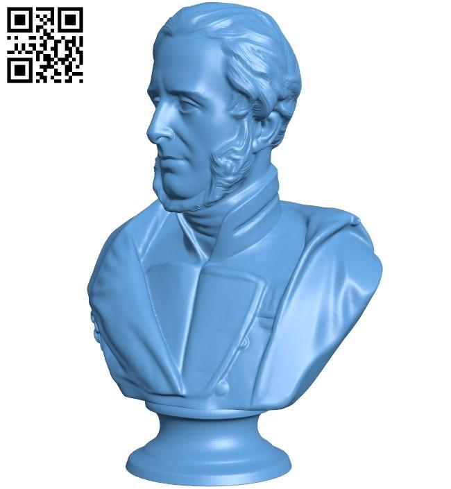 Mr Henry Havelock bust B008886 file obj free download 3D Model for CNC and 3d printer