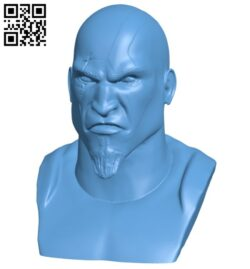 Mr Kratos bust B008630 file stl free download 3D Model for CNC and 3d printer