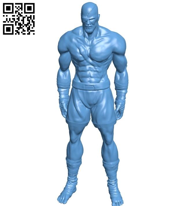Mr Sagat B008833 file obj free download 3D Model for CNC and 3d printer