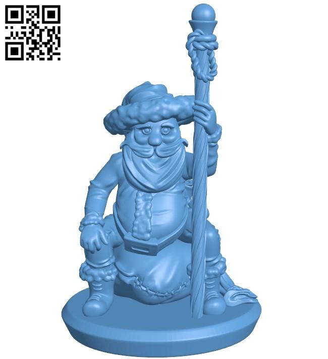 Mr Santa Wizard B008834 file obj free download 3D Model for CNC and 3d printer