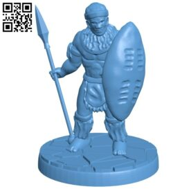 Mr Zulu Warrior B008670 file stl free download 3D Model for CNC and 3d printer