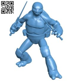 Ninja turtles holding swords B008746 file obj free download 3D Model for CNC and 3d printer