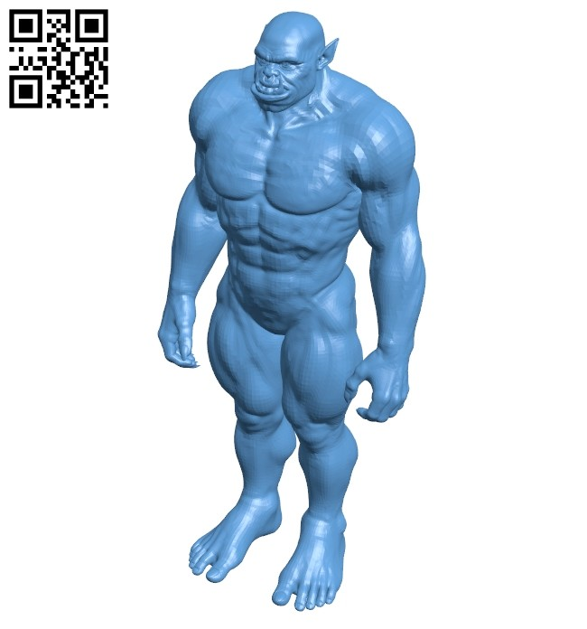 Orc Warrior B008625 file stl free download 3D Model for CNC and 3d printer
