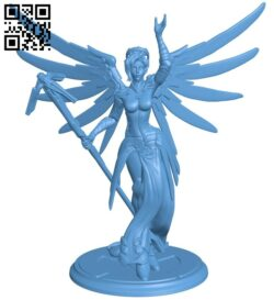 Overwatch mercy – women B008837 file obj free download 3D Model for CNC and 3d printer