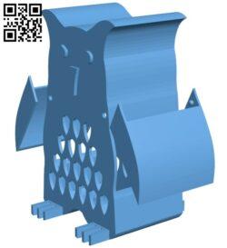 Owl bank B008661 file stl free download 3D Model for CNC and 3d printer