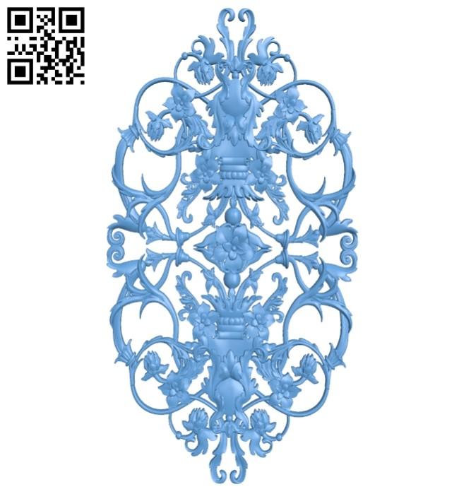 Pattern decor design A005683 download free stl files 3d model for CNC wood carving