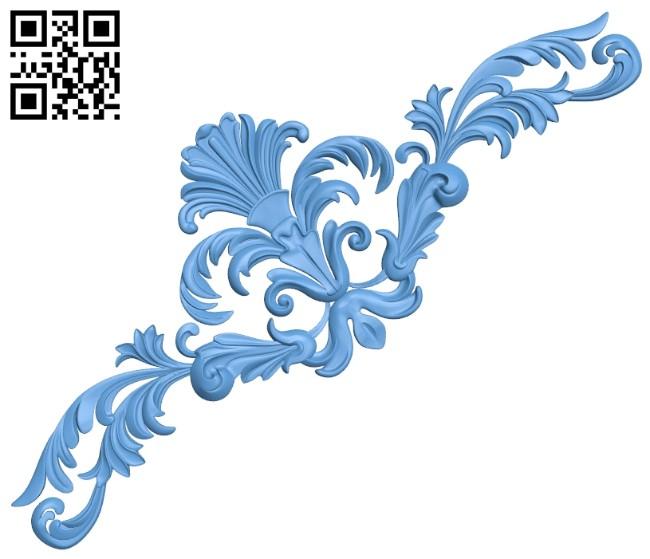 Pattern decor design A005684 download free stl files 3d model for CNC wood carving